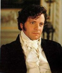 photo of Colin Firth as Mr. Darcy, looking dreamy