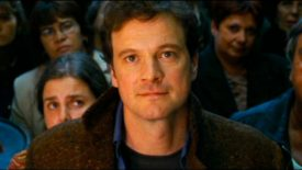 Colin Firth in Love Actually, looking dreamy