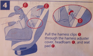 PSA Evenflo Triumph Convertible Car Seat Cover Removal Instructions